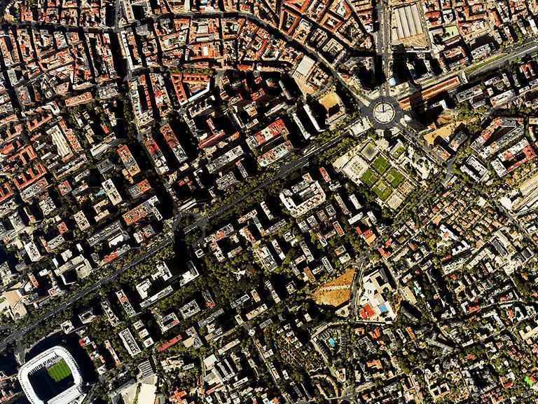 Widok satelitarny namiasto
